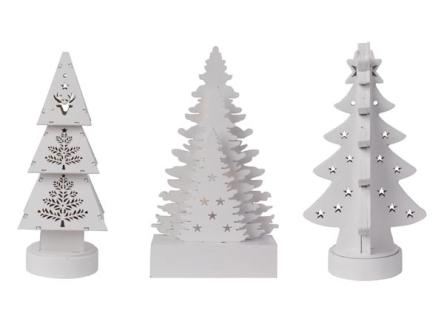 Choinka Ozdoba Drewniana Oświetlenie świąteczne Zestaw 3 Szt